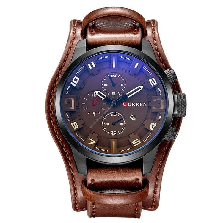Military Sports Watch for Men - brown - Quartz Watches