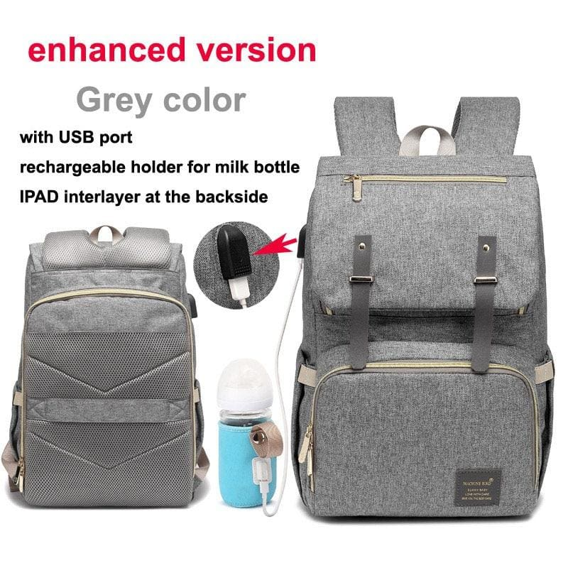 Multi-Function Diaper Bag - grey enhanced versio - Diaper Bags