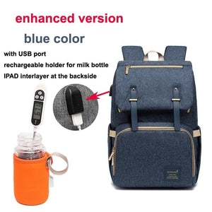 Multi-Function Diaper Bag - blue enhanced versio - Diaper Bags