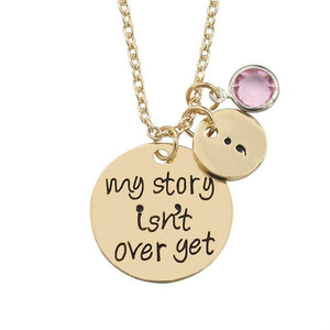 My Story Is not Over Yet Pendant - Light Yellow Gold Color - Pendant Necklaces