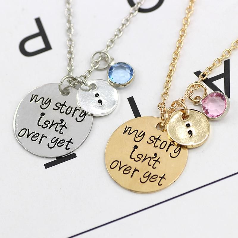 My Story Is not Over Yet Pendant - Pendant Necklaces