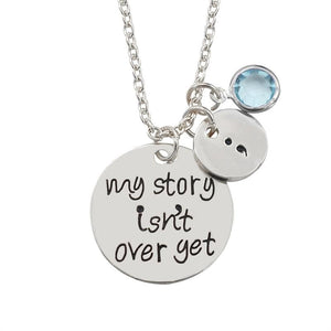 My Story Is not Over Yet Pendant - Silver Plated - Pendant Necklaces
