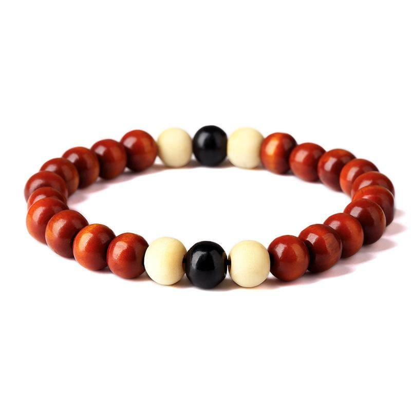 Natural Wooden Beaded Root Chakra - 2 - Charm Bracelets