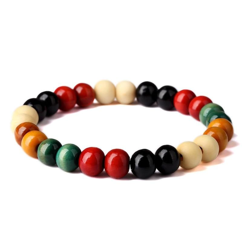 Natural Wooden Beaded Root Chakra - 4 - Charm Bracelets