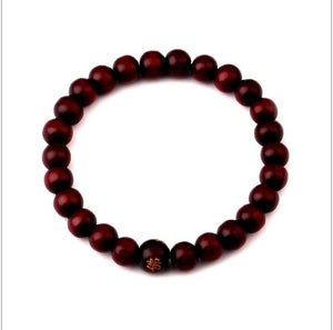 Natural Wooden Beaded Root Chakra - 6 - Charm Bracelets
