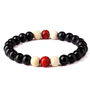 Natural Wooden Beaded Root Chakra - Charm Bracelets