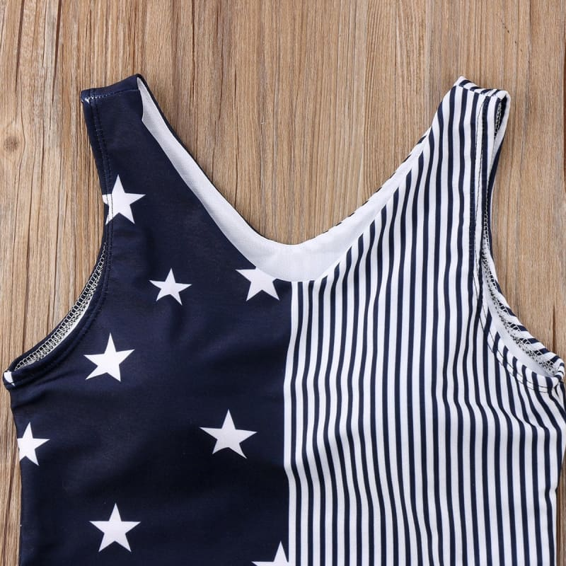 Navy Blue Stars Mom and Daughter matching swimwear - Matching Family Outfits