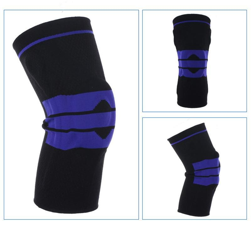 Nylon Silicon Knee Sleeve - Black / L - Elbow & Knee Pads