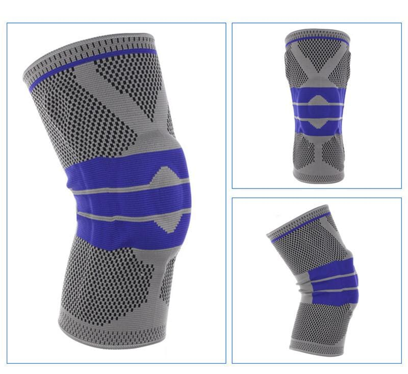Nylon Silicon Knee Sleeve - Light Grey / L - Elbow & Knee Pads