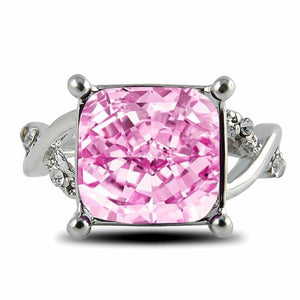 Ornate Amethyst Ring - 6 / Pink - Engagement Rings