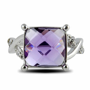 Ornate Amethyst Ring - 6 / Purple - Engagement Rings