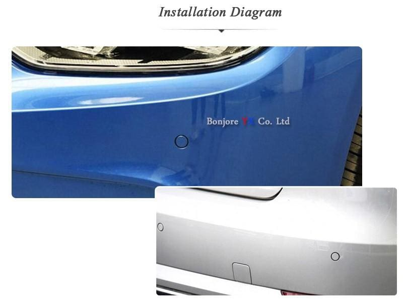 Parking System With Front View Camera and Rear view Camera - Parking Sensors
