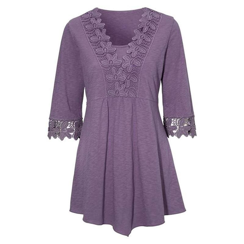 Peplum Tops Just for you - Purple / S - Blouses & Shirts
