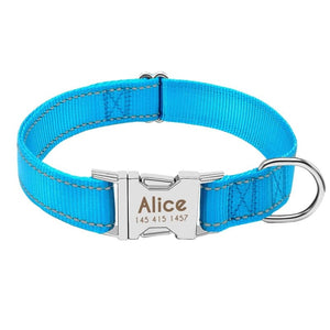 Personalized Dog Collar Just For You - Blue / L - Collars