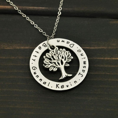Personalized Family Tree Pendent