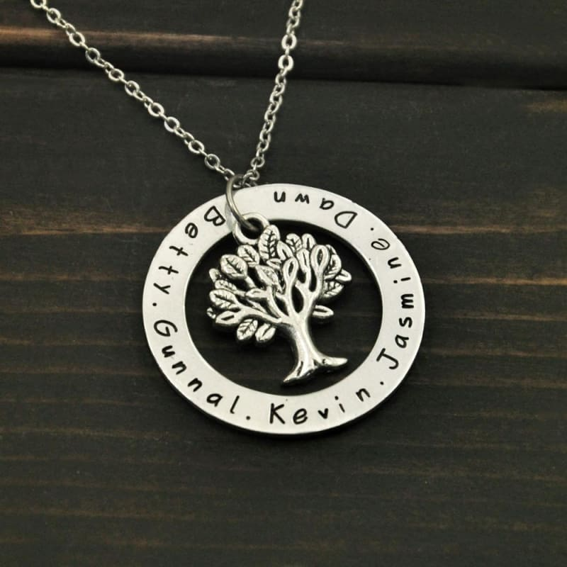 Personalized Family Tree Pendent - Pendant Necklaces