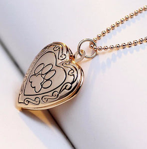Photo Frame Memory Locket - gold - Pendant Necklaces