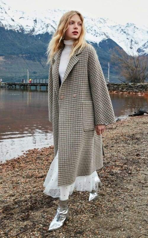 Plaid Wool Overcoat Just For You - Women Coat