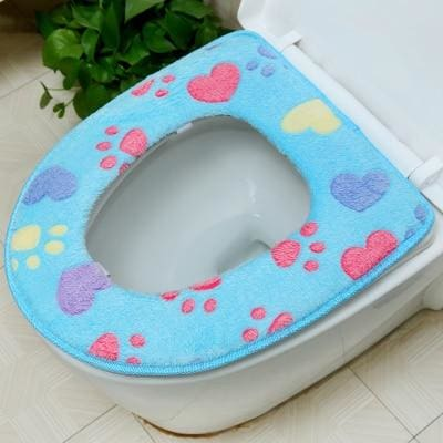 Plush Toilet Cover Just For You - blue Seat Cover - Toilet Seat Covers