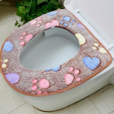 Plush Toilet Cover Just For You - coffee eat Cover - Toilet Seat Covers