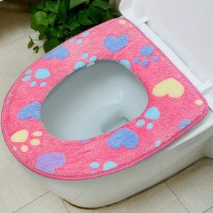 Plush Toilet Cover Just For You - pink Seat Cover - Toilet Seat Covers
