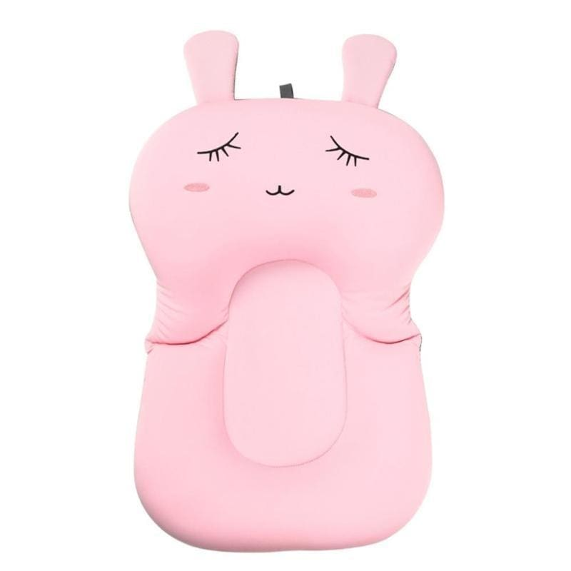 Portable Air Cushion Bed for Infant Bath - pink Rabbit - Baby Tubs