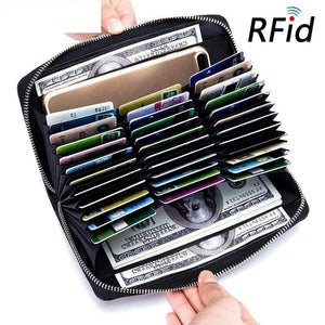 RFID Blocking Credit Card Wallet And Passport Organizer - Rose purple - Card & ID Holders
