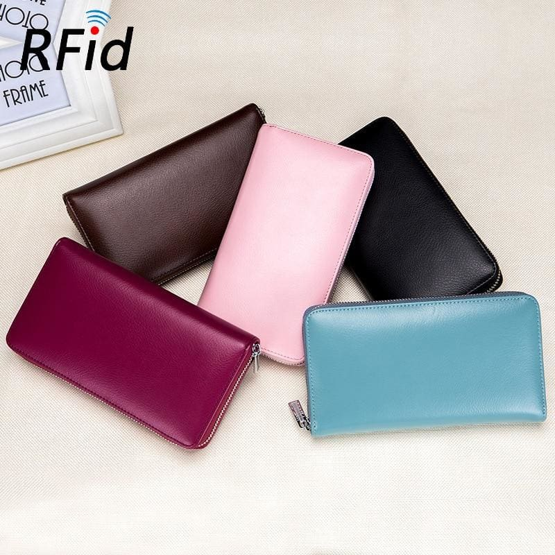 RFID Blocking Credit Card Wallet And Passport Organizer - Card & ID Holders