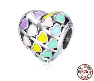 Romantic Rainbow Heart - Beads