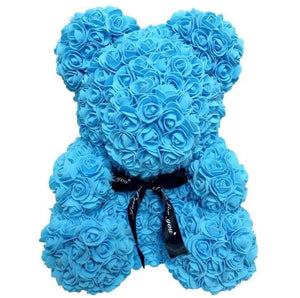 Rose Teddy Bear Just For You - 40cm blue bear - Teddy Bear