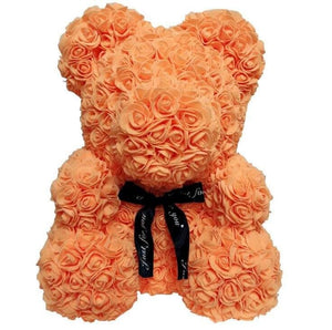 Rose Teddy Bear Just For You - 40cm orange bear - Teddy Bear