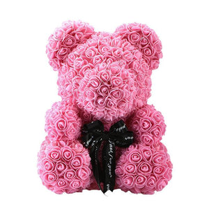 Rose Teddy Bear Just For You - 40cm pink bear - Teddy Bear