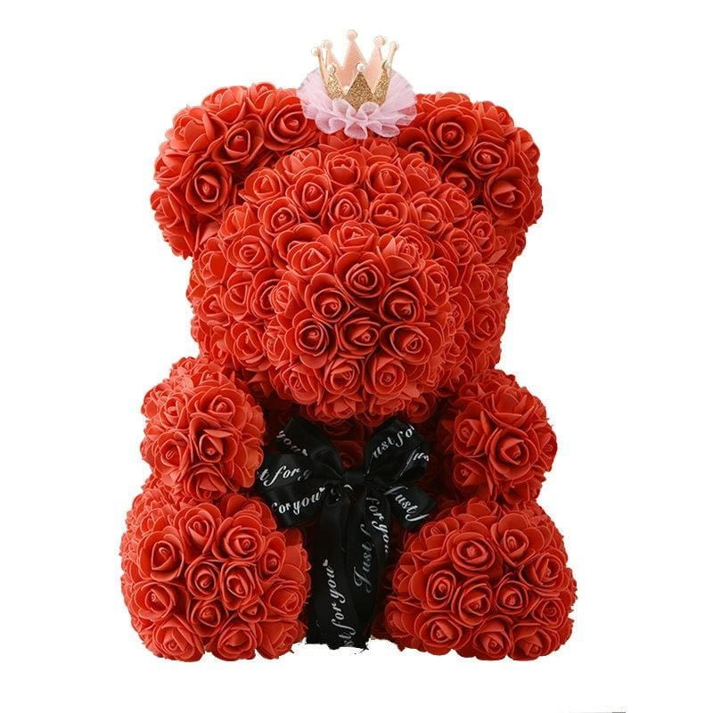 Rose Teddy Bear Just For You - 40cm red crown - Teddy Bear