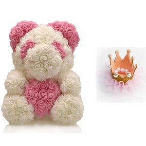 Rose Teddy Bear Just For You - Dark Gray - Teddy Bear