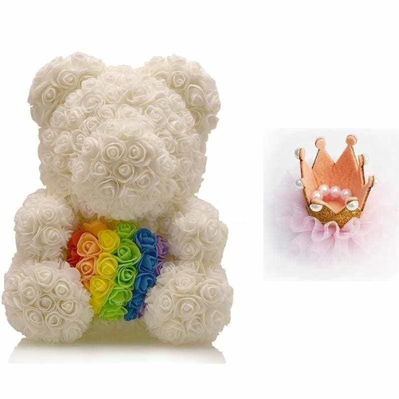 Rose Teddy Bear Just For You - Light Yellow - Teddy Bear
