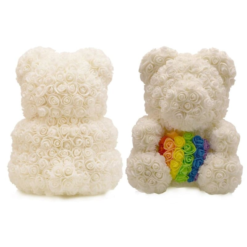 Rose Teddy Bear Just For You - rainbow bear - Teddy Bear