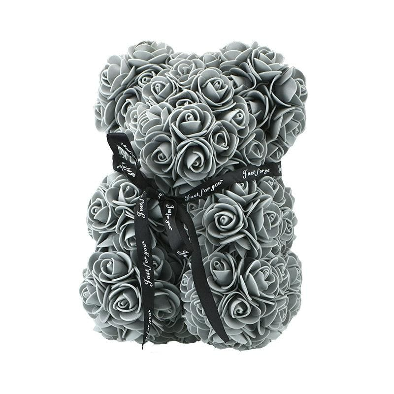 Rose Teddy Bear Rabbit Dog Panda Unicorn - 25cm grey bear - Teddy Bear