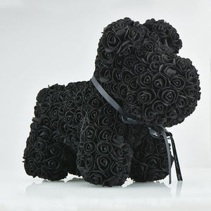 Rose Teddy Bear Rabbit Dog Panda Unicorn - 42cm black dog - Teddy Bear