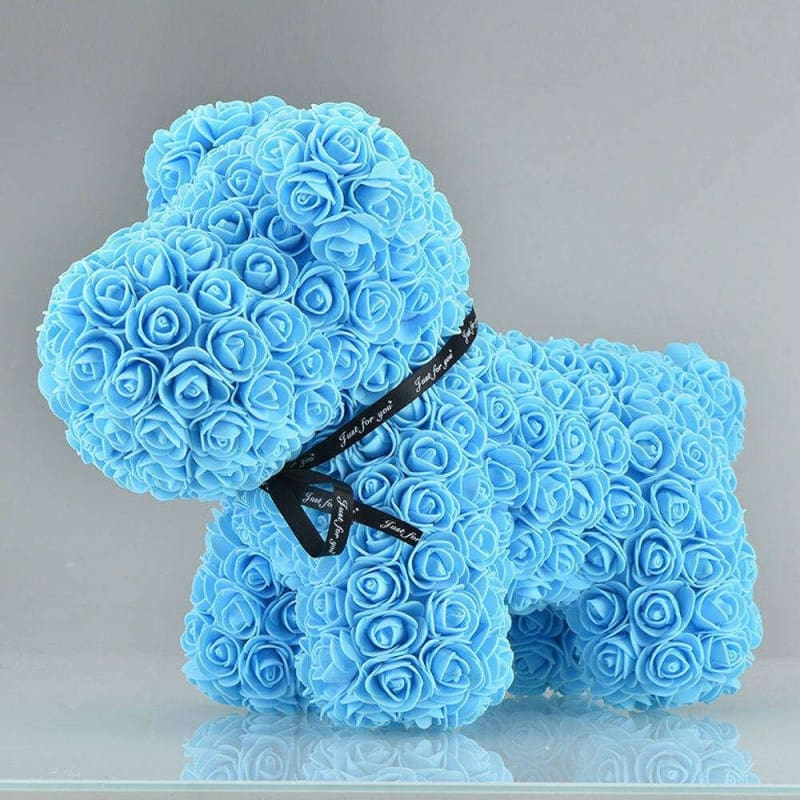 Rose Teddy Bear Rabbit Dog Panda Unicorn - 42cm blue dog - Teddy Bear