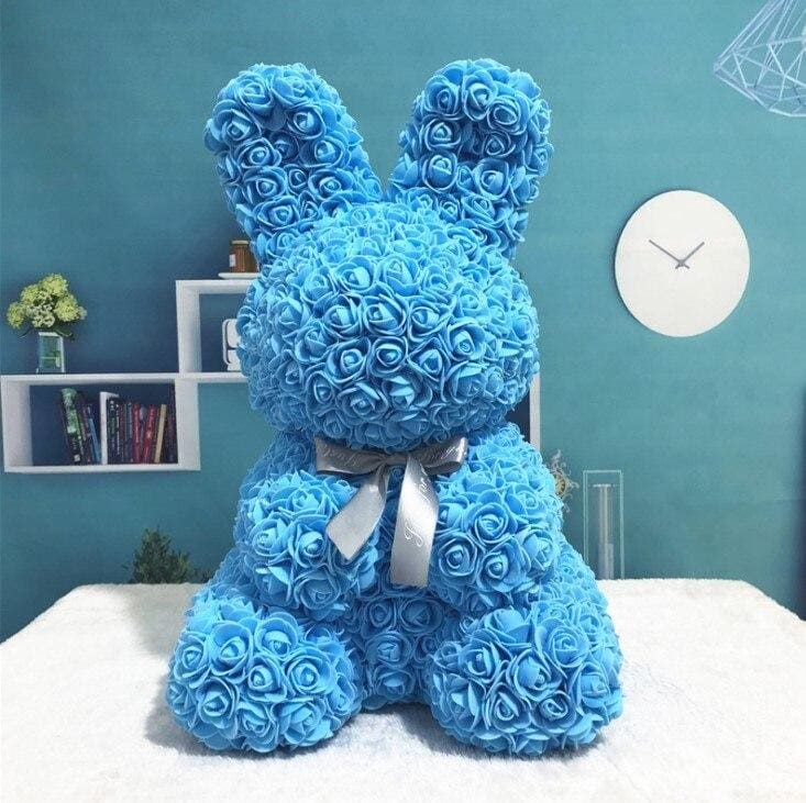 Rose Teddy Bear Rabbit Dog Panda Unicorn - 45cm blue rabbit - Teddy Bear