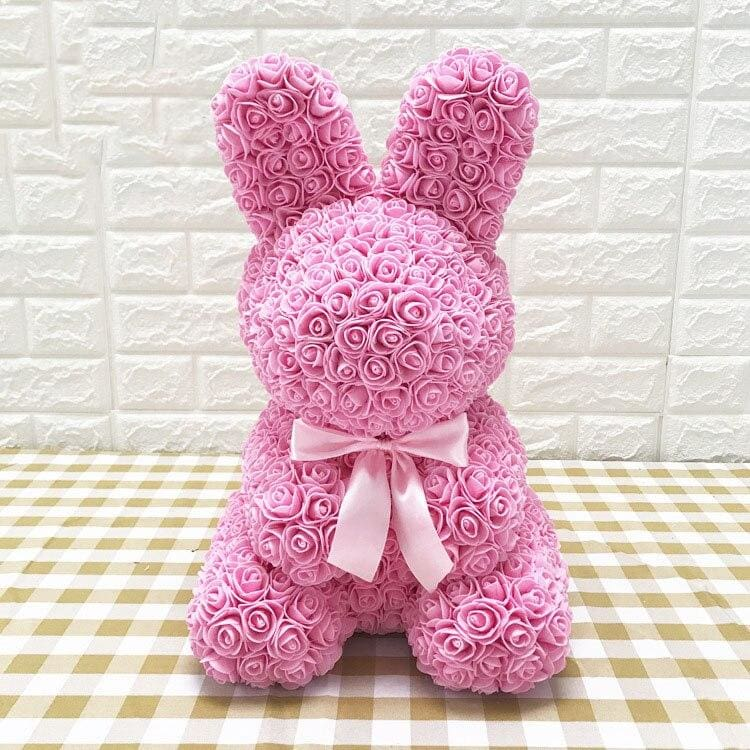 Rose Teddy Bear Rabbit Dog Panda Unicorn - 45cm pink rabbit - Teddy Bear