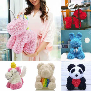 Rose Teddy Bear Rabbit Dog Panda Unicorn - Teddy Bear