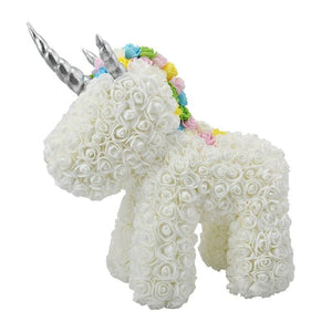 Rose Teddy Bear Rabbit Dog Panda Unicorn - White Unicorn - Teddy Bear