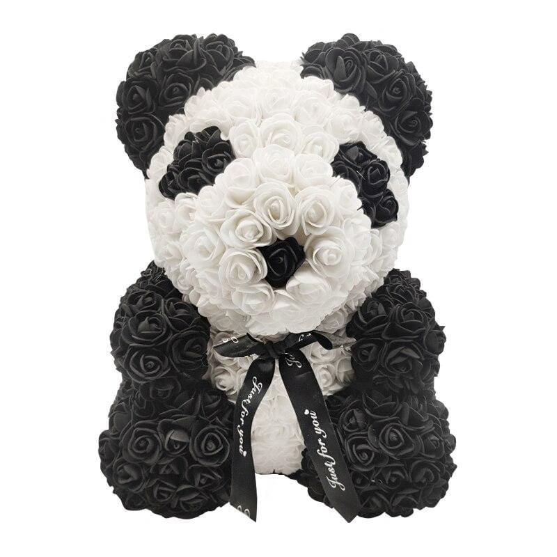Rose Teddy Bear Rabbit Dog Panda Unicorn - Panda with Bow - Teddy Bear