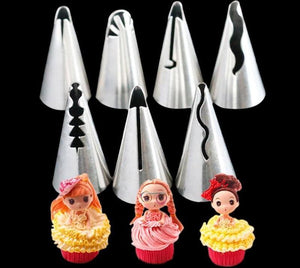 Ruffle Piping Pastry Nozzles Set - Decorating Tip Sets