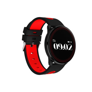 Smart Sport Watch - Black And Red - Smart Wristbands