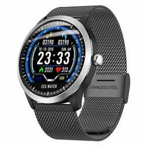 Smart Watch ECG + PPG Just For You - Black Metal - Smart Watches1