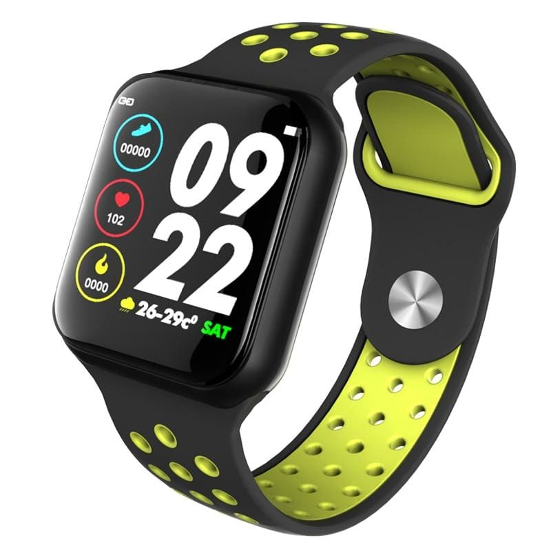Smart Watch Fitness Tracker Heart Rate Monitor Bracelet - F8 Black Green / with retail box - Smart Watches2