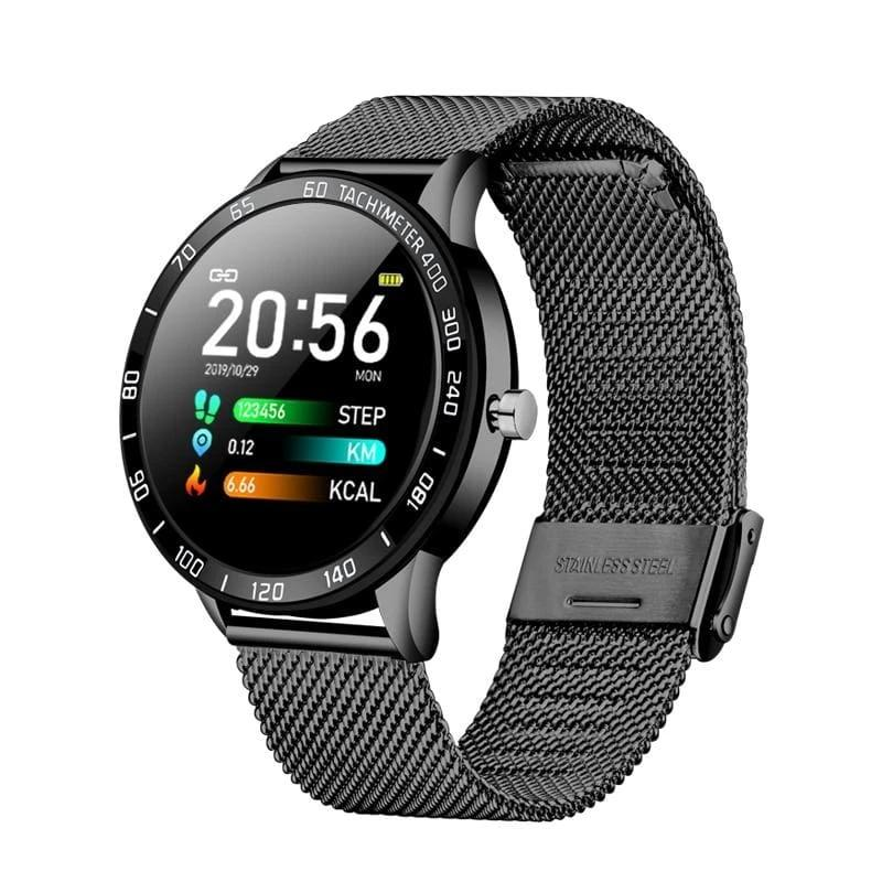 Smart Watch OLED Multi-Function Mode Sport - Black - Smart Watches1