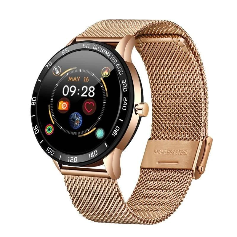 Smart Watch OLED Multi-Function Mode Sport - Gold - Smart Watches1